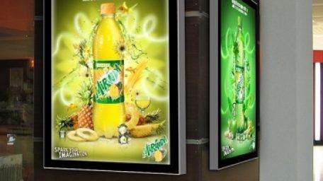 Làm hộp đèn led quảng cáo siêu mỏng nhanh giá tốt tại Hà nội